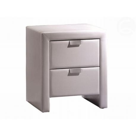 Bílý noční stolek Toma
