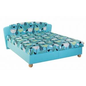 Čalouněná postel SALMA, Velikost postele 160x200, Varianta matrace DIONE