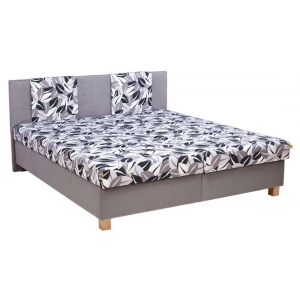 Čalouněná postel KLAUDIE, Velikost postele 160x200, Varianta matrace DIONE