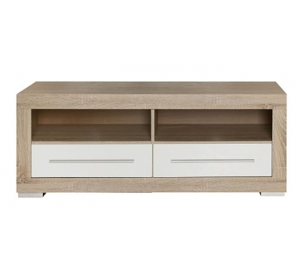 Televizní stolek Atrium - dub sonoma/bílý lesk