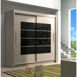 Šatní skříň Tuna 11 - černé zrcadlo