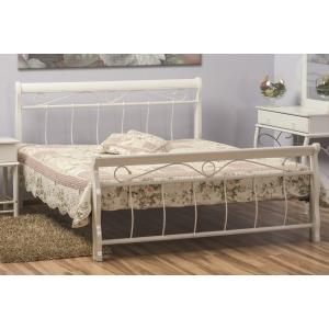Manželská postel VANESA - 160x200 bílá/bílá Komfort