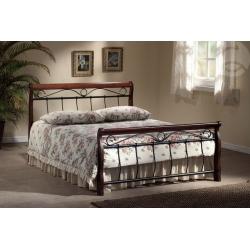 Manželská postel VANESA - 160 nebo180/200 černá/třešeň