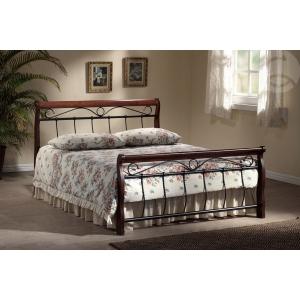 Manželská postel VANESA - 160 nebo180/200 černá/třešeň, Velikost postele 160x200