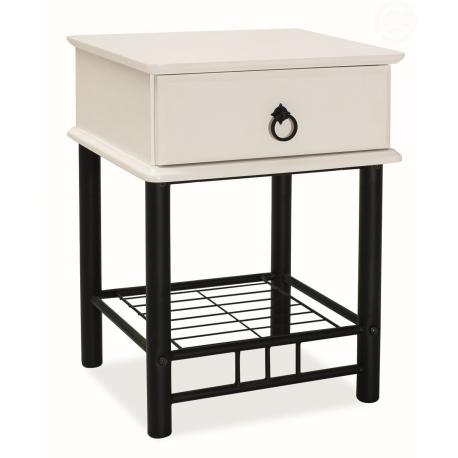 Noční stolek K205 černo-bílý