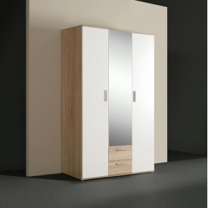 Šatní skříň Nano - dub Sonoma/bílá