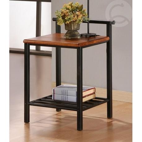 kovový noční stolek