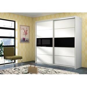 Šatní skříň s posuvnými dveřmi Arad - černá Komfort
