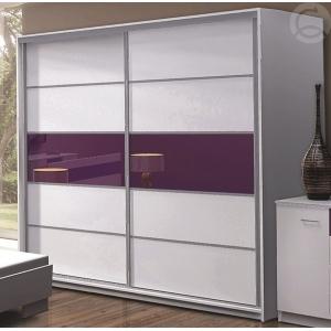 Šatní skříň s posuvnými dveřmi Arad - fialová Komfort