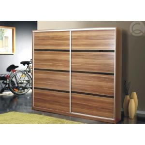 Šatní skříň s posuvnými dveřmi Flor - švestka Komfort