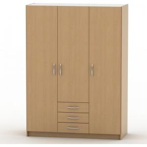 Šatní skříň Jena 4 - mnoho odstínů, Barva třešeň, zrcadla 1x zrcadlo + 990Kč