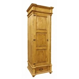 Šatní skříň z masivu 05 - selský nábytek, Moření K01 - světlá borovice, Provedení police moblewosk