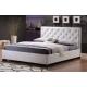 čalouněná postel bílá 180x200