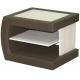 Noční stolek čalouněný ASTA L/P - thuje/hnědá