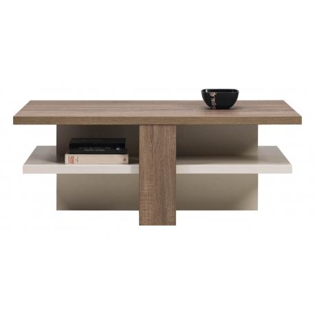 Konferenční stolek LAOS - dub sonoma truflový/bílý lesk