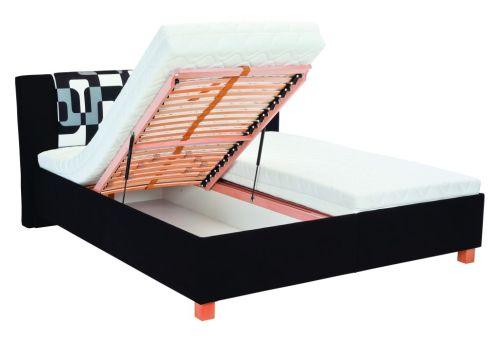 čalouněné postele s úložným prostorem