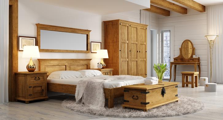 postele z masivu rustikální